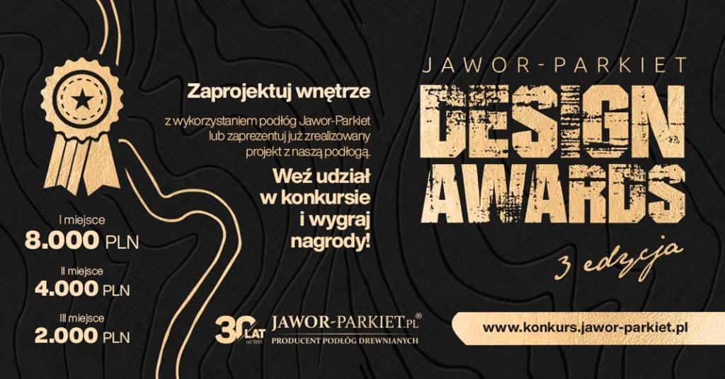 Jawor-Parkiet Design Awards grafika III edycji konkursu