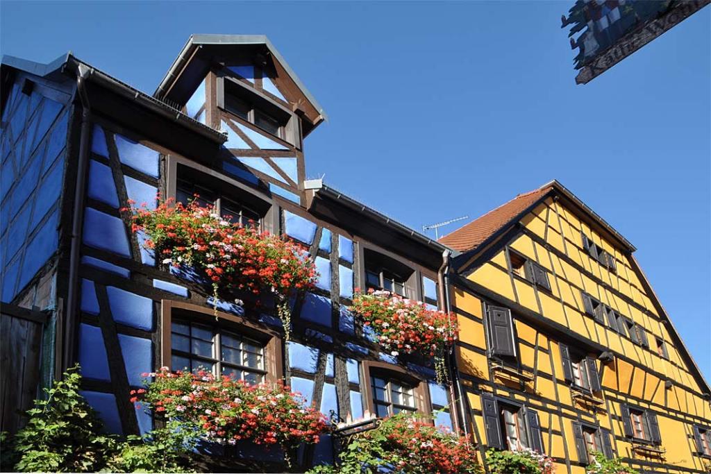 Kolorowe domy w Riquewihr