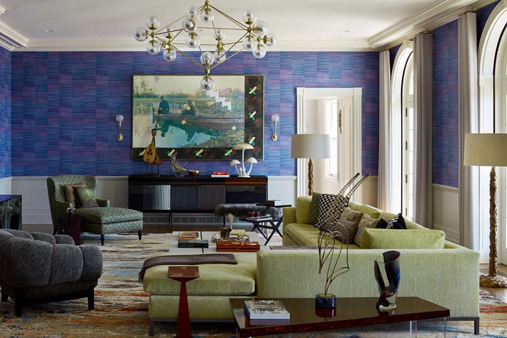 Kolorowe wnętrze apartamentu w Nowym Jorku - część prywatna