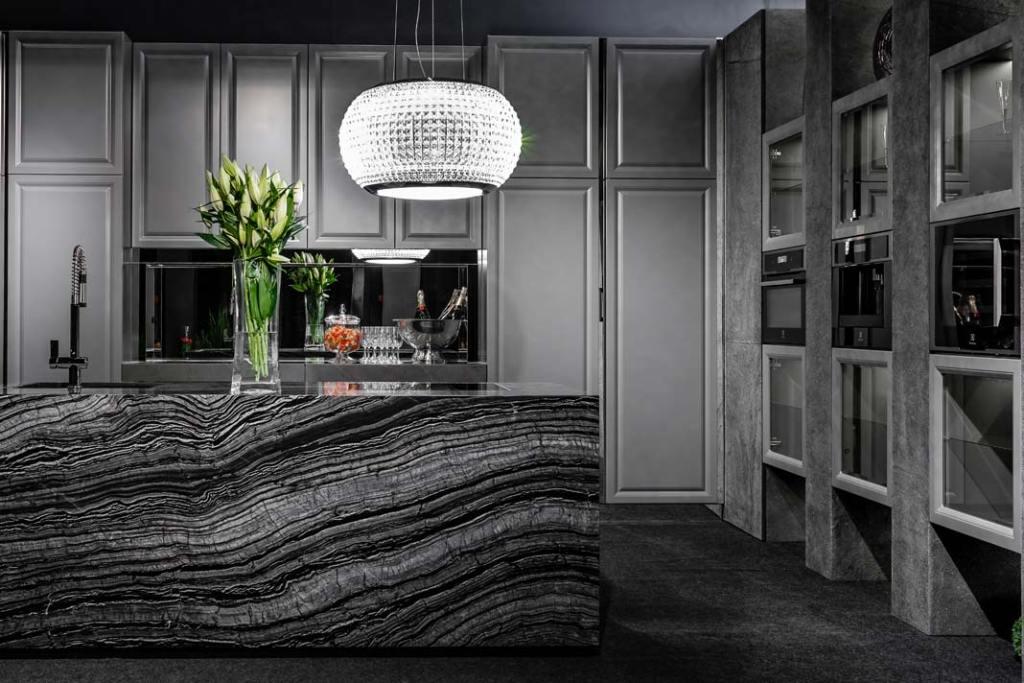 Kuchnie klasyczne - meble z kolekcji Ever Grey firmy A&K