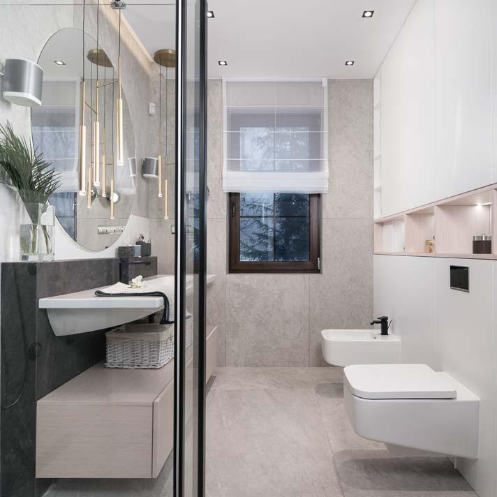 Łazienka dla gości. Projekt Marcelina Rzońca