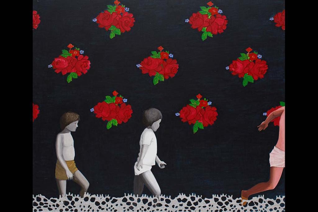 Rynek sztuki. Marta Paulat, 3D, 2004, akryl, płótno, 120 x 100cm