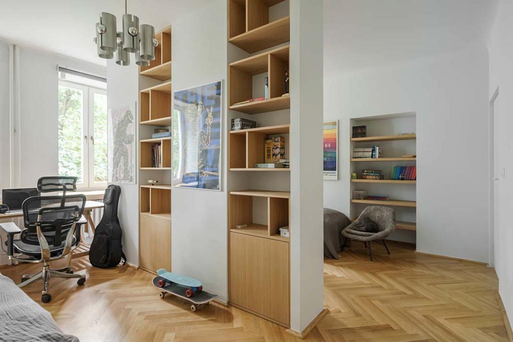 Mieszkanie w stylu vintage, pokój nastoletnich synów