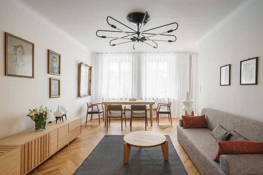 Mieszkanie w stylu vintage w warszawskiej kamienicy. Projekt: Studio Loft Kolasiński