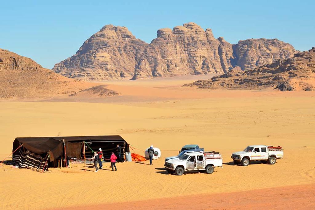 Obóz Beduinów na Wadi Rum