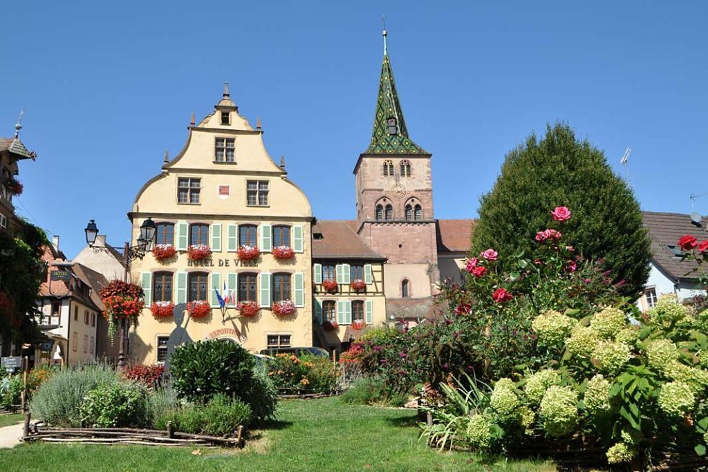 Miasta ogrody Alzacji. Ogród miejski na dawnym placu handlowym w Turckheim