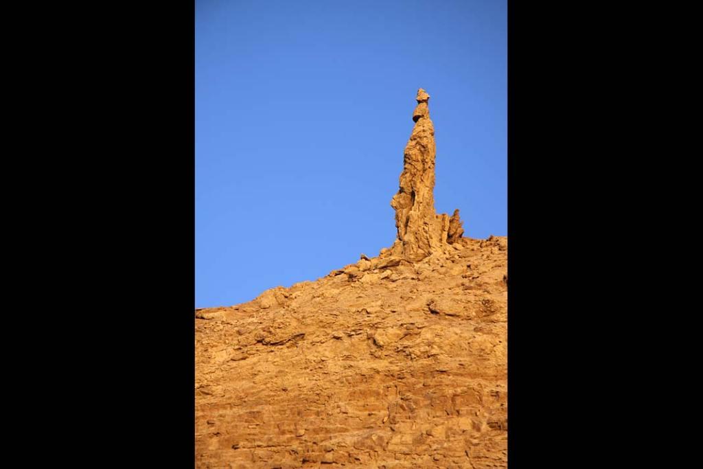 Ostaniec skalny nad Morzem Martwym zwany Żoną Lota