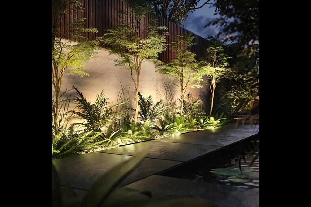 Oświetlenie ogrodu, lampy Philips Hue Amarant