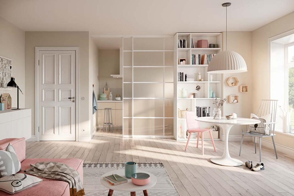 Salon wielofunkcyjny z drzwiami presuwnymi Raumplus S 1200