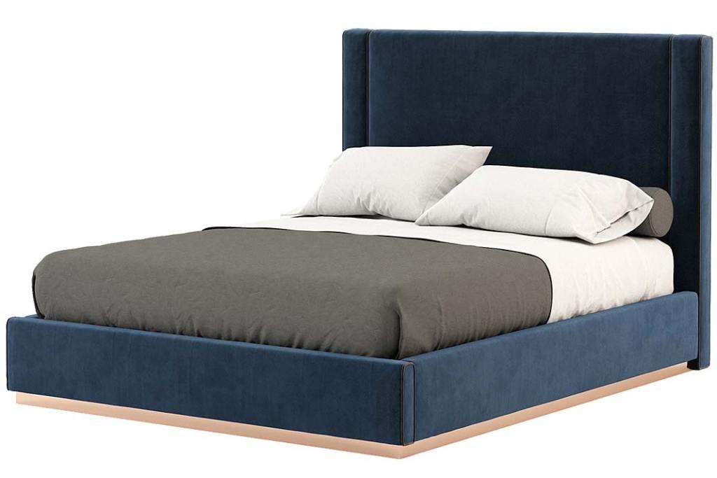 Kolor roku 2020. Tapicerowane łóżko Corin od Laskasas