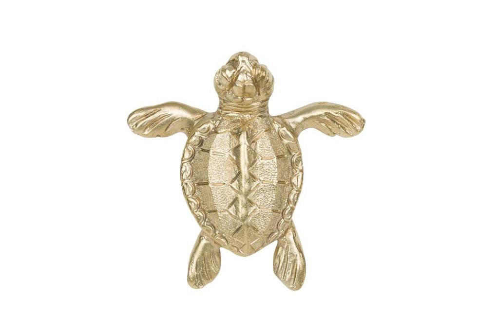 Uchwyty meblowe Turtle, mosiądz naturalny