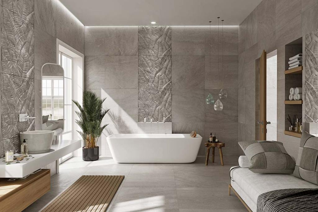 Elegancka łazienka wyposażona w baterie Adore Ferro