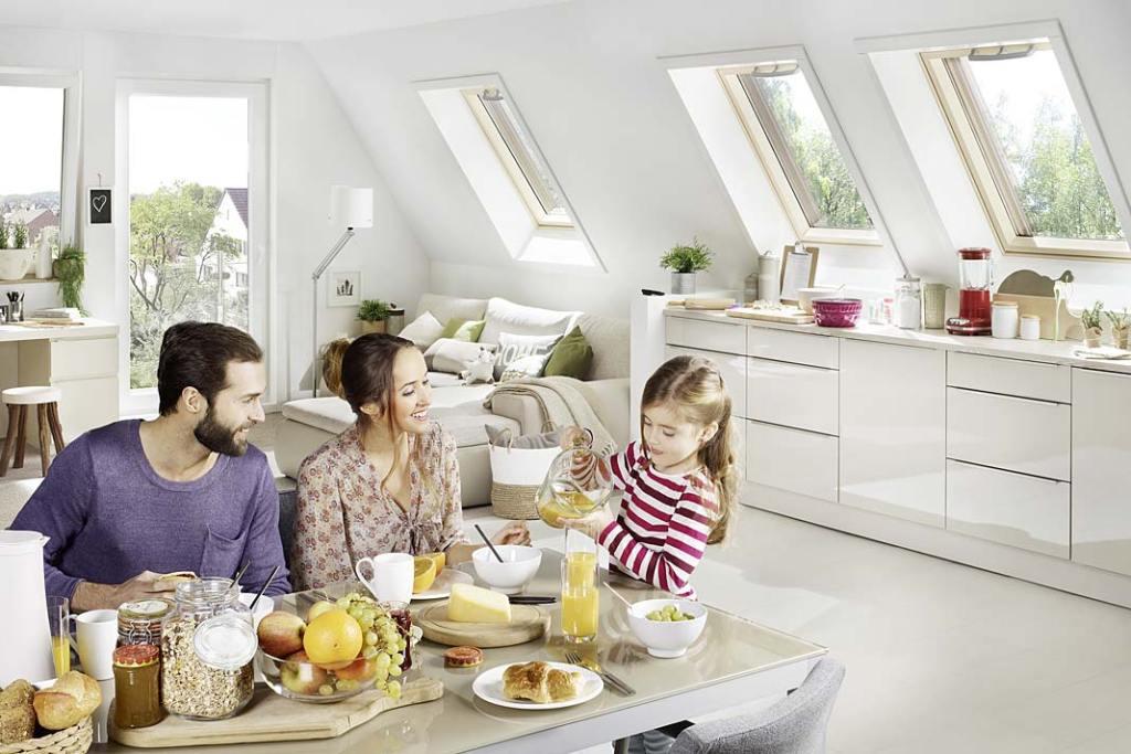 Drewniane okna kuchenne RotoQ marki Roto