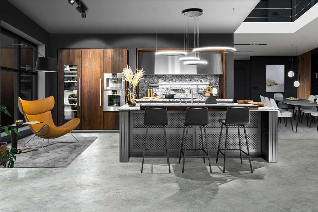Eleganckie meble kuchenne Glacial Platinum firmy ernestrust