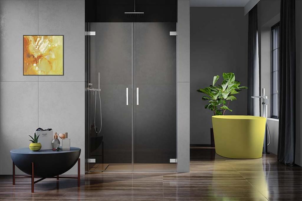 Kolory roku 2021 w łazience. Kabina Arta QL DWD marki Radaway