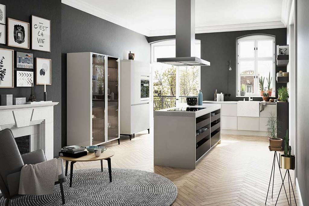 Kuchnia z salonem, meble kuchenne Urban marki SieMatic
