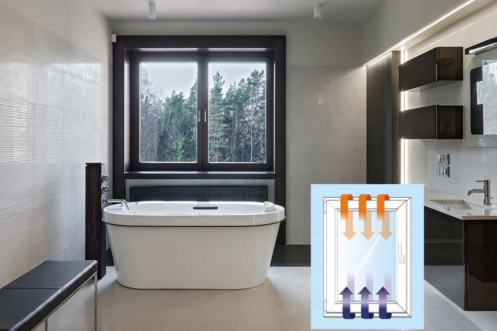 Łazienka z oknem wyposażonym w okucia PADK marki Awilux_schemat