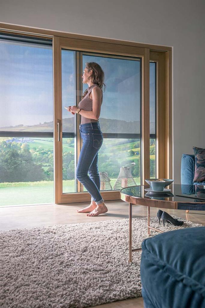 Duże okna w domu. Markiza VMZ Solar Fakro
