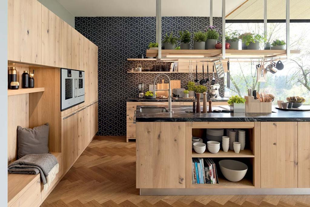 Meble kuchenne wykończone drewnem, seria loft firmy Team7