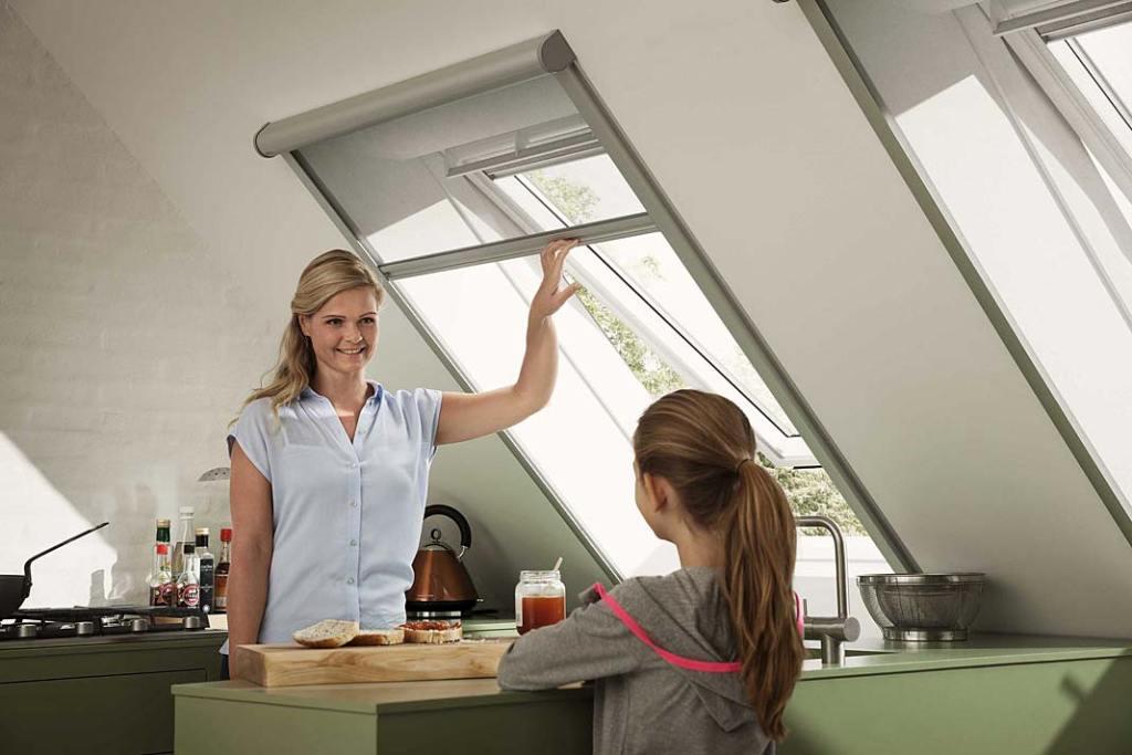Moskitiera na okno kuchenne, propozycja Velux