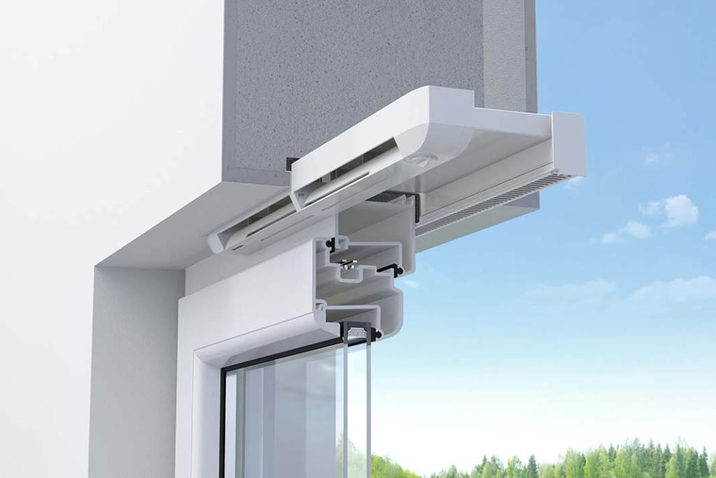 Okno łazienkowe z nawiewnikiem pasywnym AEROMAT flex marki Siegenia