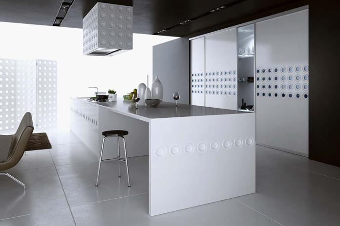 Panele dekoracyjne na fronty kuchenne. Panel ze wzorem Pierścienie firmy Komandor