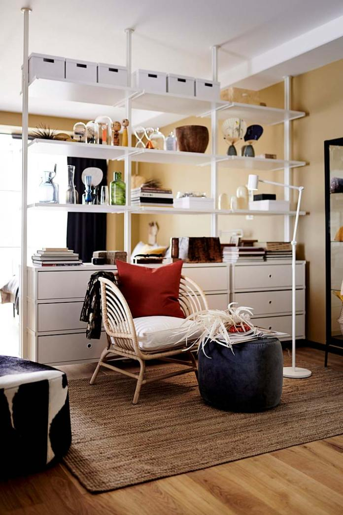 Regał biały, regał z szufladami - system Elvarli od IKEA