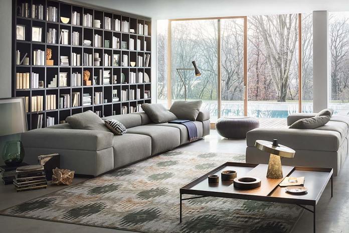 Regał do salonu, regał na książki - Selecta włoskiej marki Lema