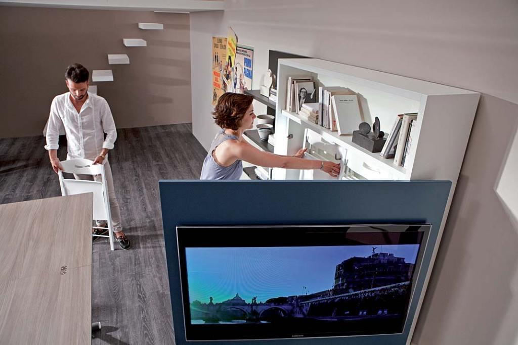 Sposoby na mały salon. System meblowy Smart Living od Ozzio Design