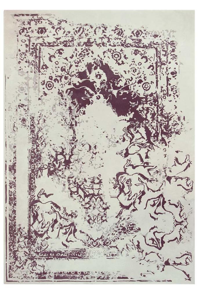 Styl loftowy w mieszkaniu, dywan Poseidon z oferty Rug Society