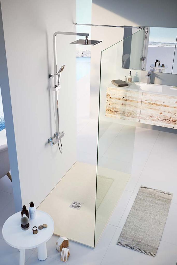 System prysznicowy z baterią termostatyczną Soller Teka oszczędza wodę