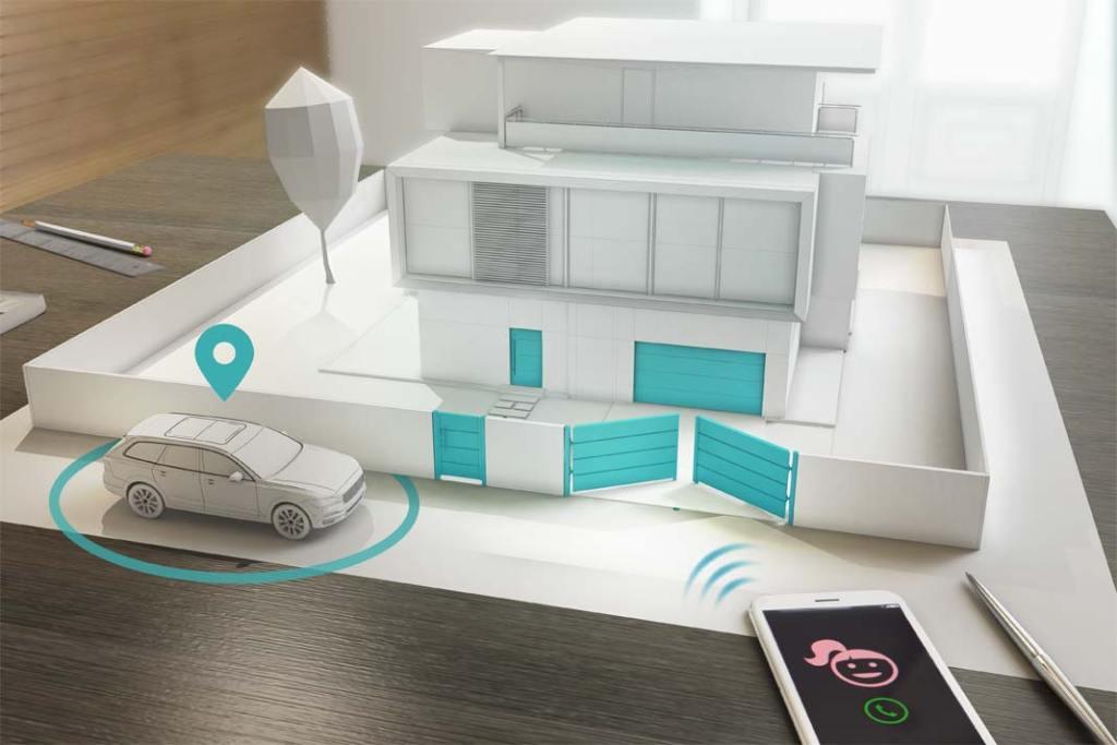 Inteligentna posesja. Wyposażone w nadajnik GPS bramy i drzwi w technologii smartCONNECTED marki Wiśniowski