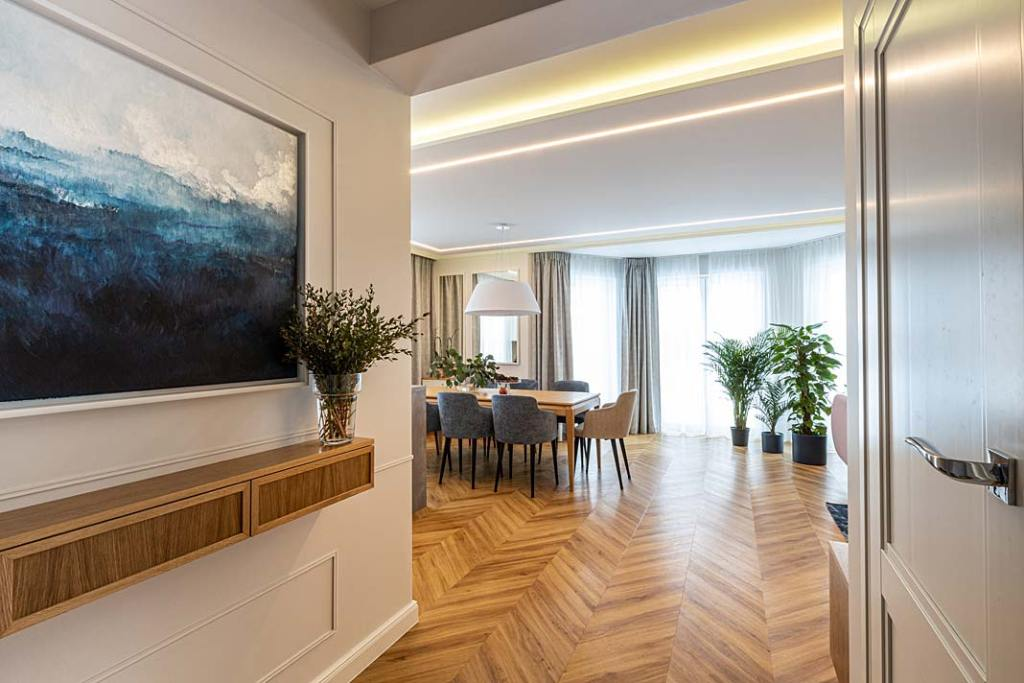 160-metrowy dom dla rodziny - część dzienna. Projekt Kowalczyk-Gajda Studio Projektowe