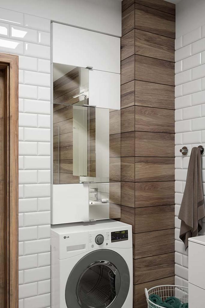 Aranżacja łazienki dla rodziny, szafka Multi Open marki NAS