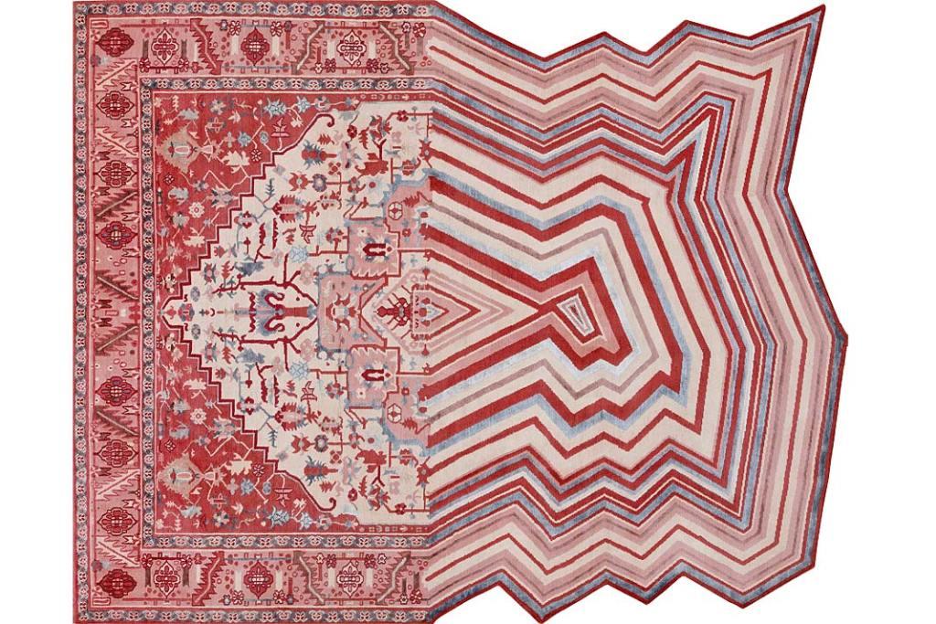 Designerskie dodatki do salonu, ręcznie tkany dywan Evolution od Illulian Design Studio