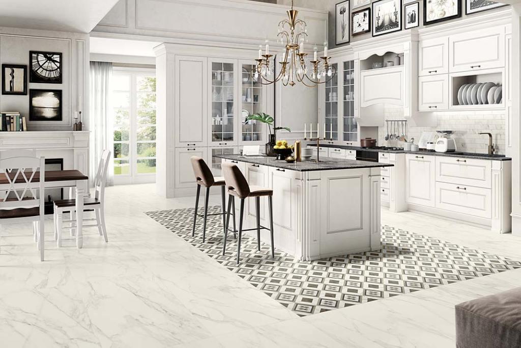 Gres na podłodze w kuchni, płytki Trumarmi Ceramica Sant Agostino