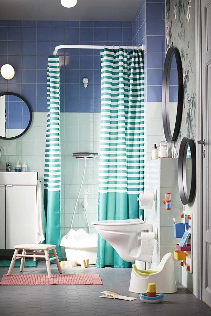 Kącik malucha w rodzinnej łazience, aranżacja IKEA