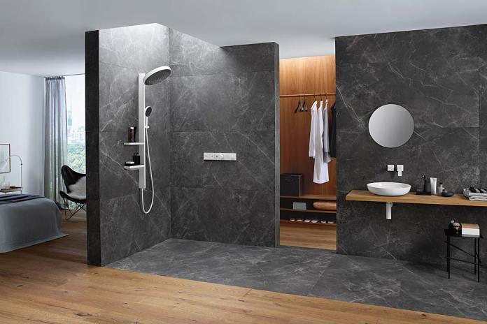 Kolumna prysznicowa Rainfinity Hansgrohe z dwiema półeczkami
