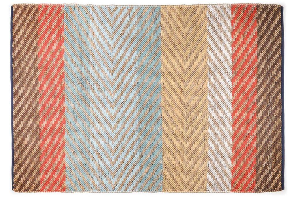 Kuchnia w kolorach wiosny, dywan Pastell Stripes od Tom Tailor