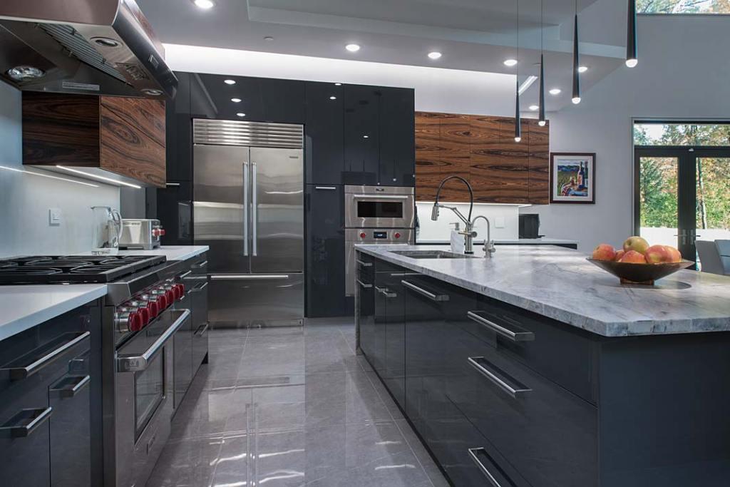 Kuchnia w stylu amerykańskim, meble firmy ernestrust w rezydencji z Chicago