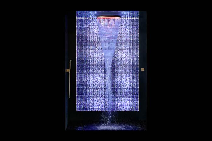 Luksusowy pokój kąpielowy, prysznic Aquamoon Delight Edition marki Dornbracht