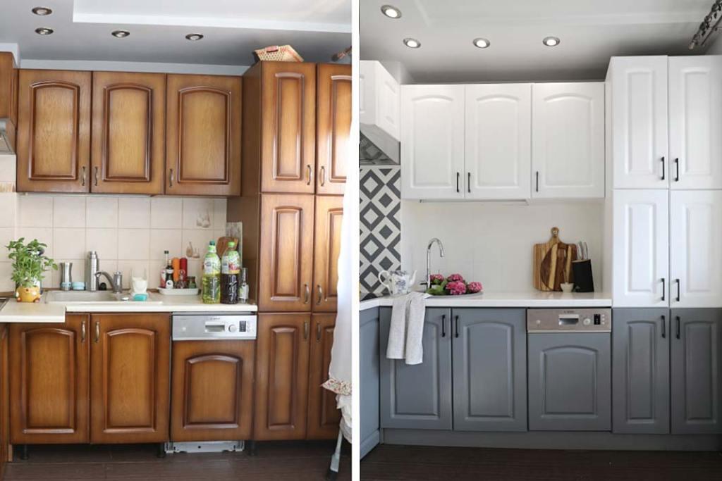Metamorfoza kuchni Pani to Potrafi, kuchnia przed i po remoncie