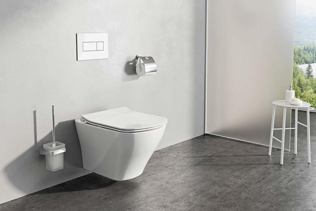 Miska wc bez kołnierza Ravak Classic RimOff w łazience