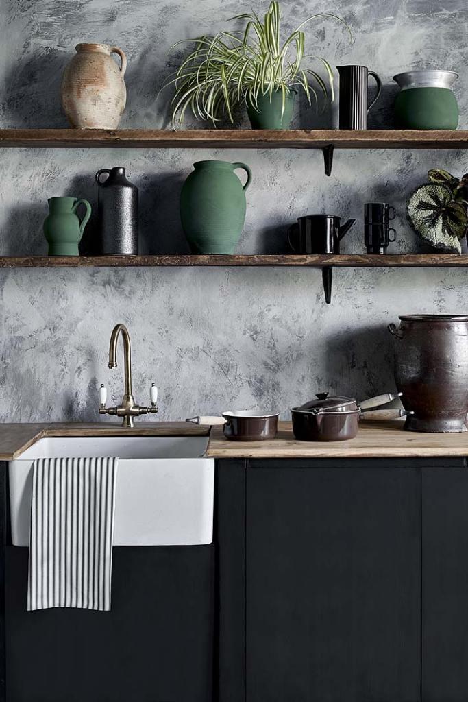 Odświeżenie kuchni, szafki pomalowane farbami Annie Sloan