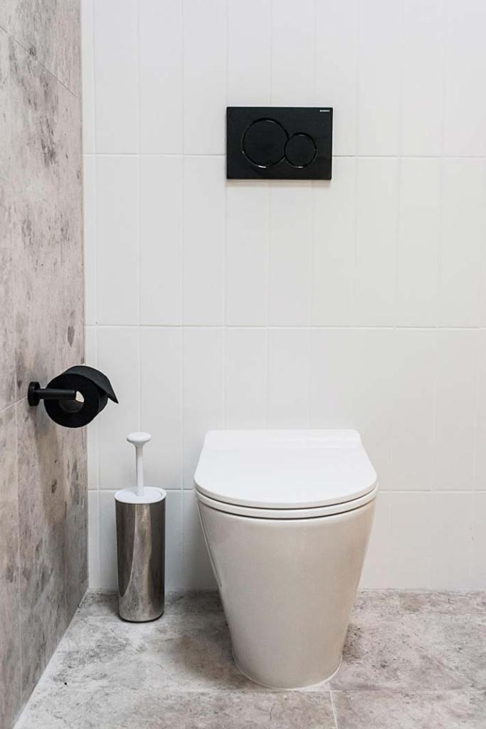 Czarne akcesoria łazienkowe firmy Meir