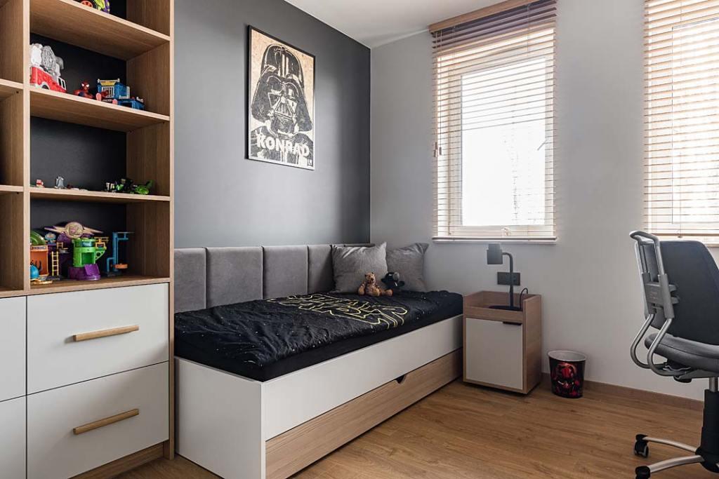 Pokój dla chłopca, motyw Star Wars. Projekt Studio Projekt
