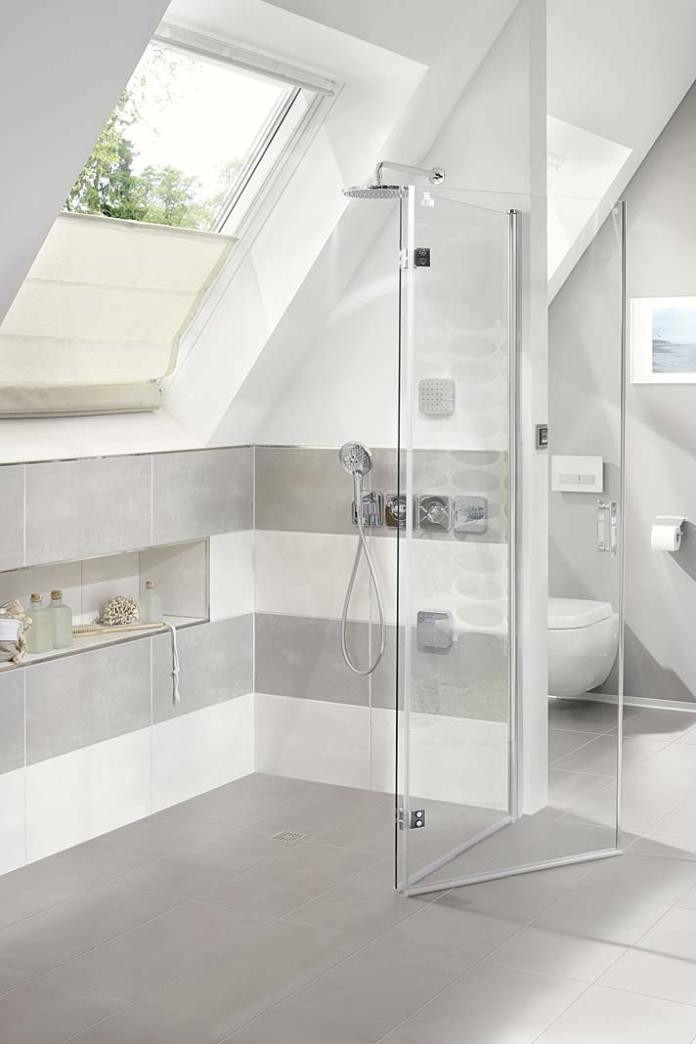 Półka pod prysznic w ścianie , kabina Diga firmy Kermi