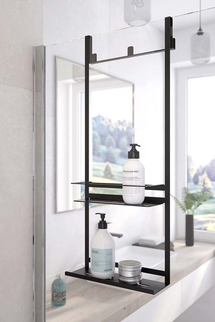 Półka pod prysznic zawieszana na ścianie kabiny, model Mokko marki Deante