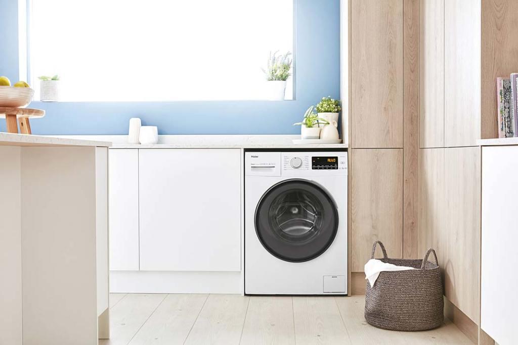 Pralka w kuchni, pralka Haier z serii 39 dostęna w opcji standard i slim