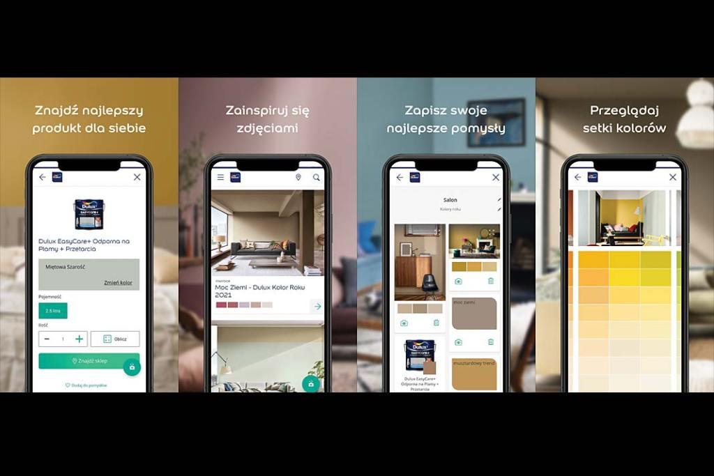 Projektowanie wnętrz online, dobierz kolor ścian z aplikacją Dulux Visualizer